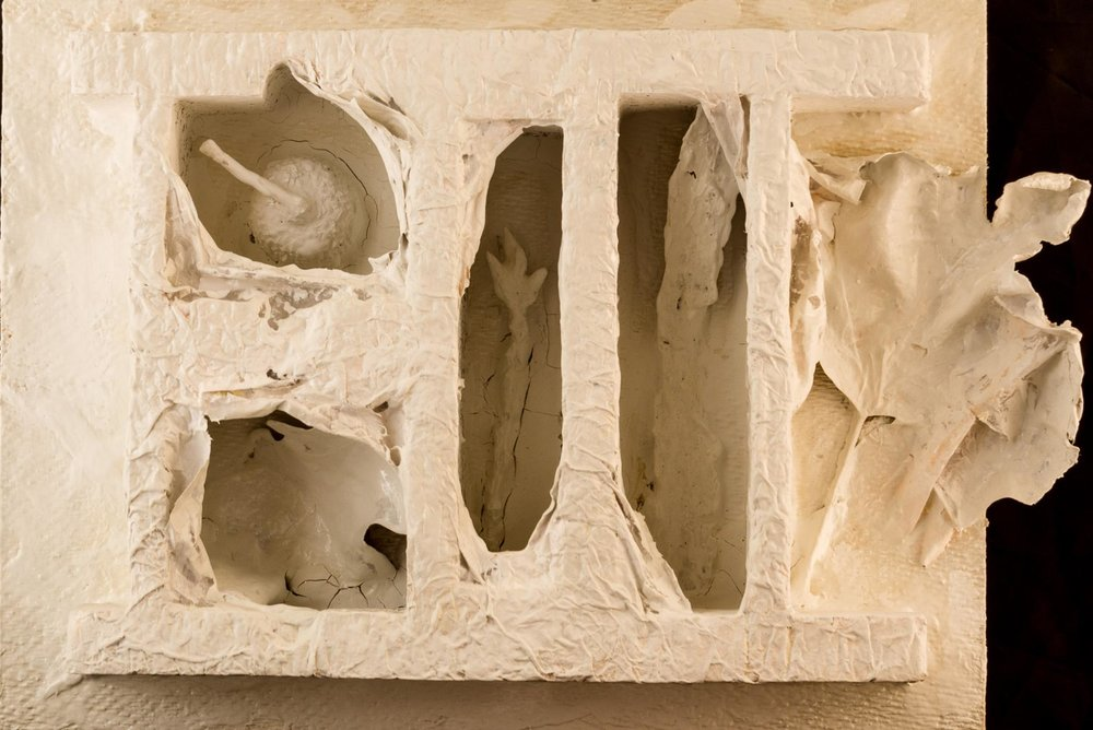 Paola F. Bidinelli,  Reality is a Veil,  mixed-media on plastic, 10x7.