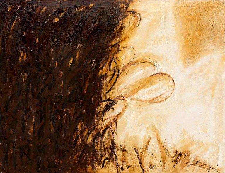 Towards the Light , mixed media on canvas