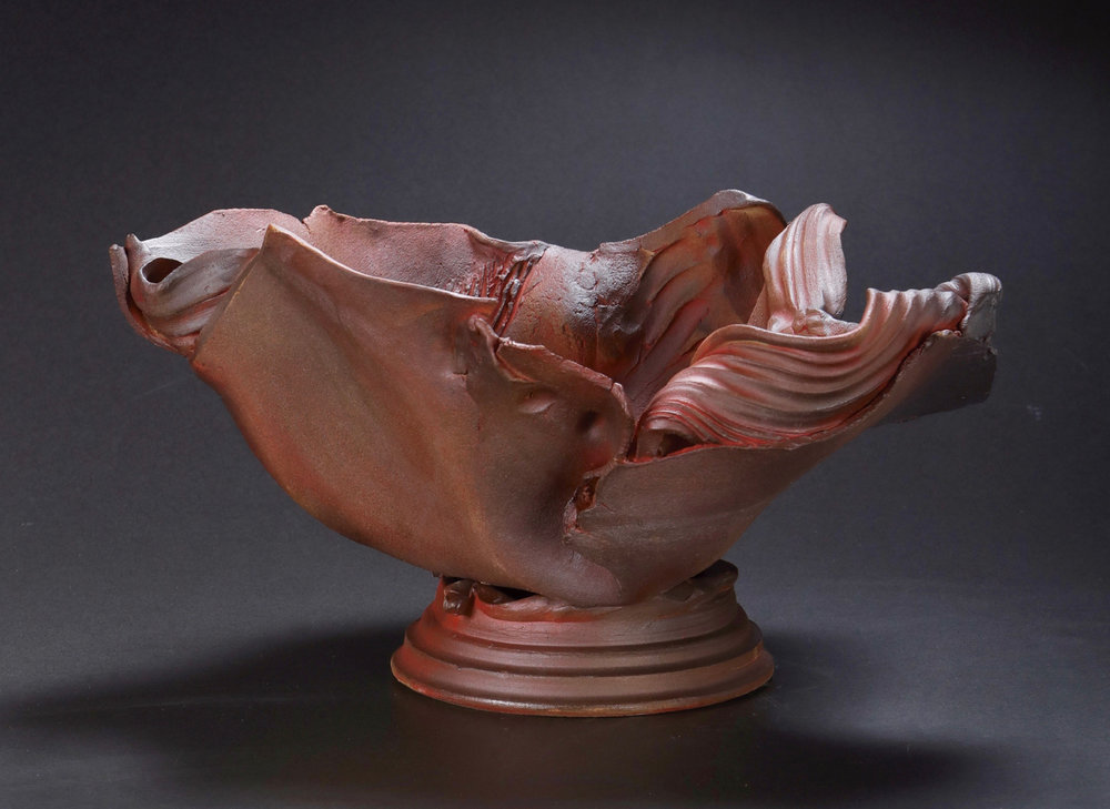 Mimi Howard,  Earth Ribbon #19 , glazed stoneware, 20x15x10