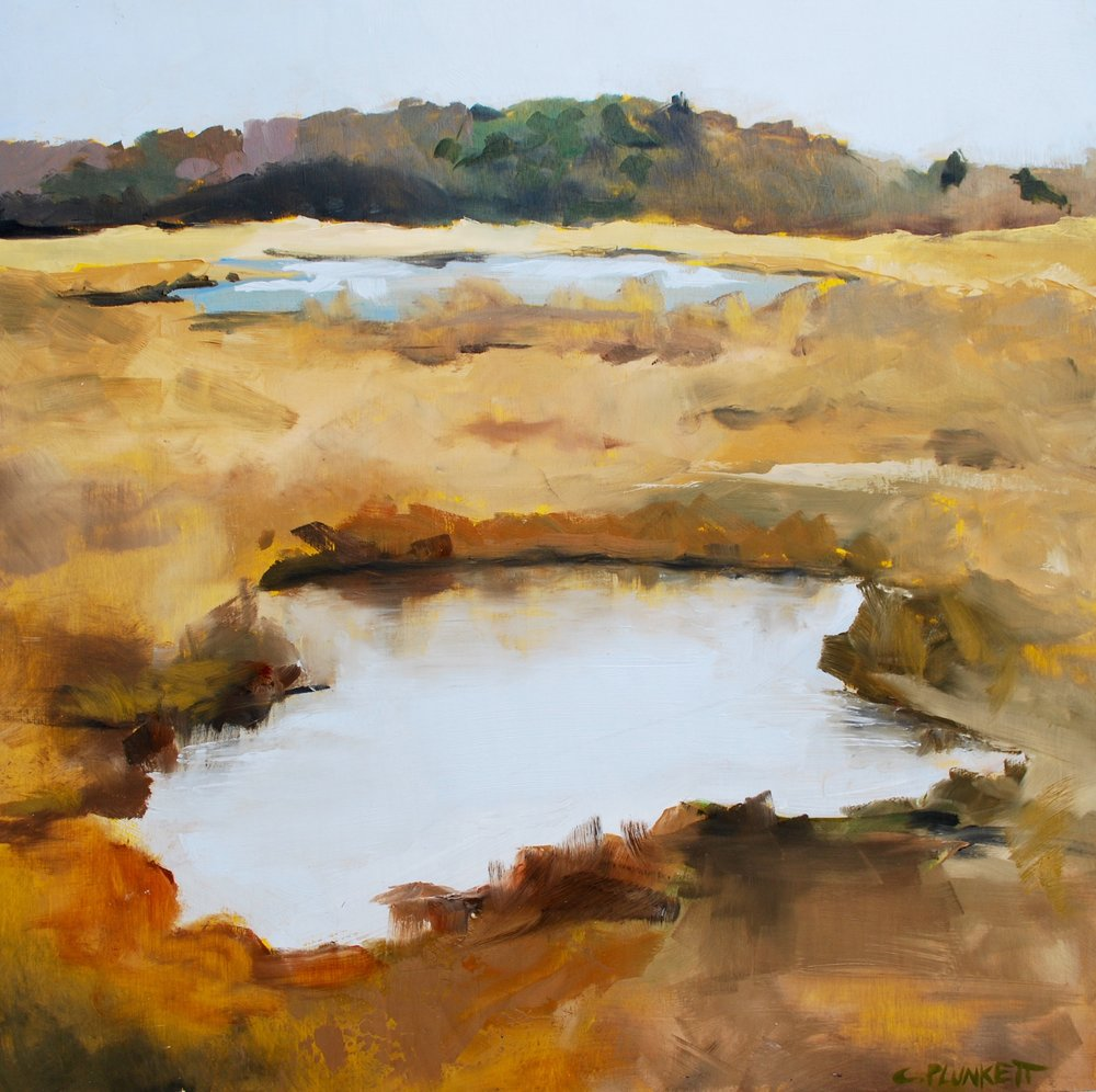 """Neponset River #3 , oil on wood panel, 24"""" x 24"""""""