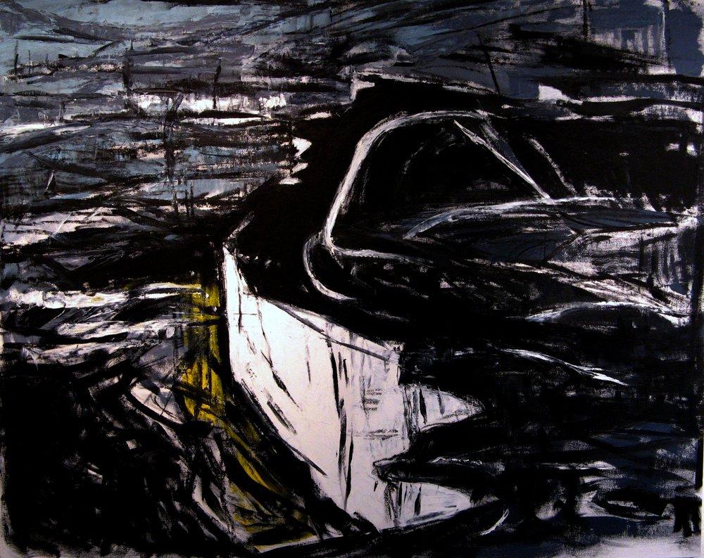 """Dark Skies,"" painting by Iris Osterman in the D'Arista Legacy exhibit"