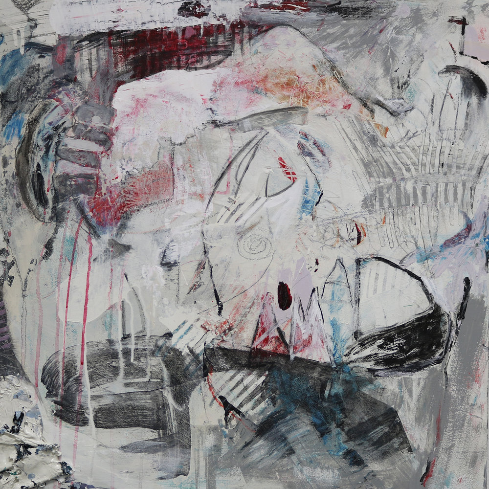 Brenda Cirioni,  Abstract #1 , mixed-media painting, 24x24
