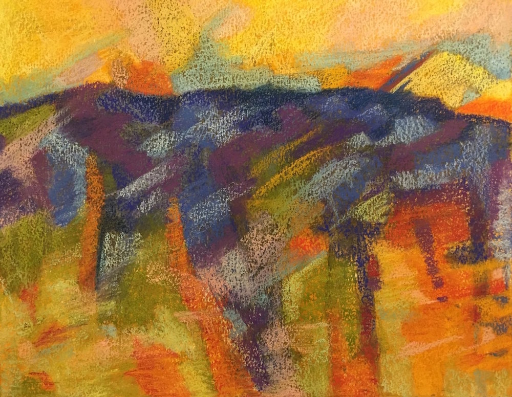 Marcia Wise,  Capriccio , Acrylic and pastel, 19x16