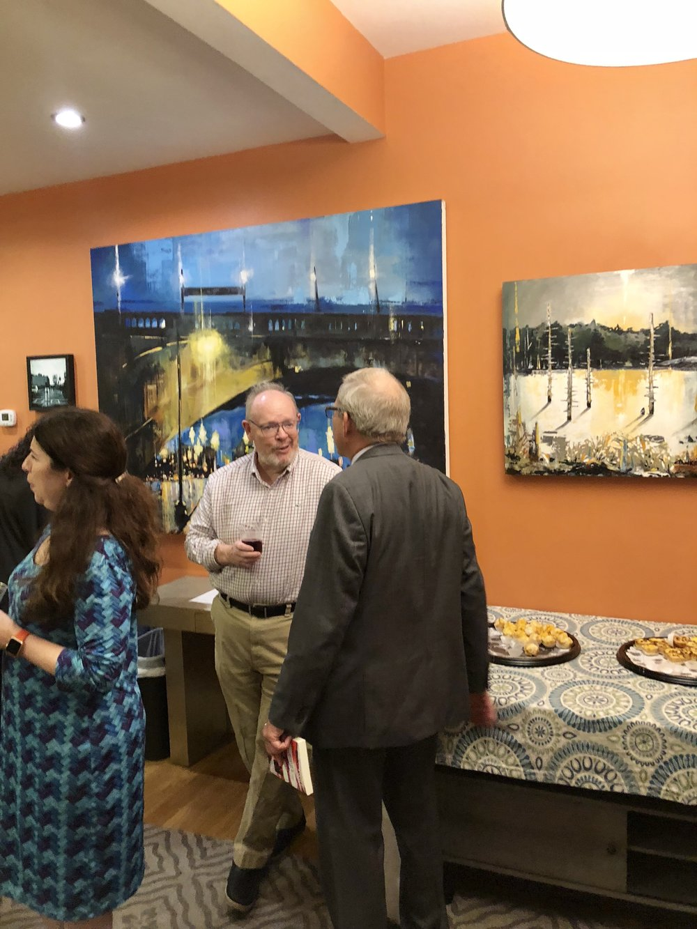 """Work from Chris Plunkett's """"City and Land"""" exhibit"""