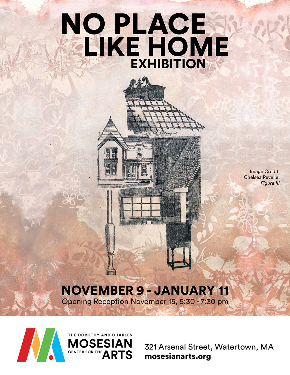 """Chelsea Revelle's work shown on the poster for """"No Place Like Home"""""""