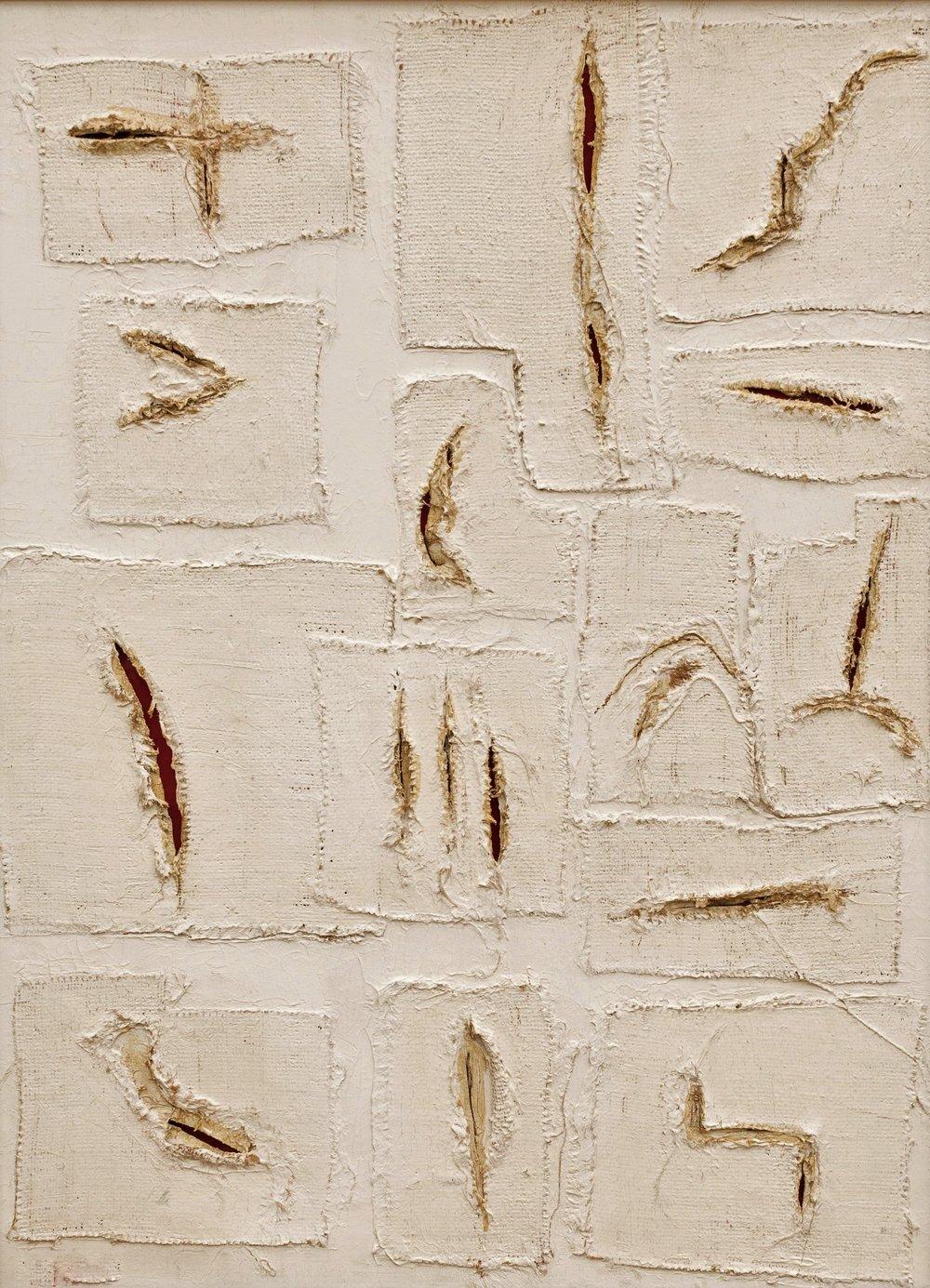 """""""Scars,"""" mixed-media by Paola Bidinelli"""