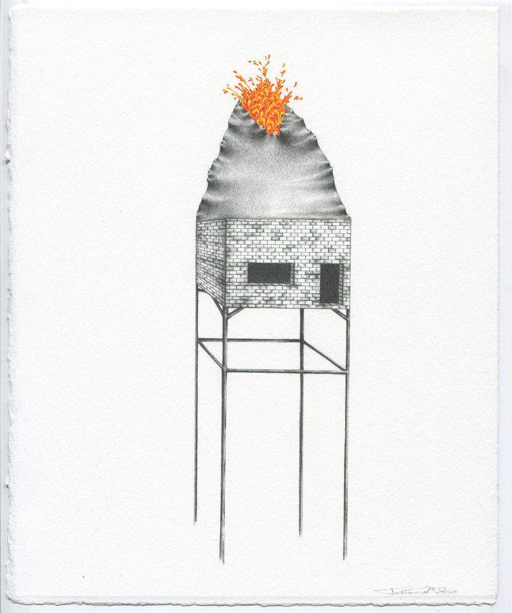 """(An) Obsidian Return"" drawing by Tatiana Flis"