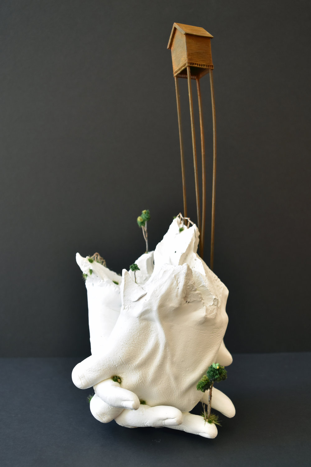 First-time Home Buyers , resin, wood and mixed-media,