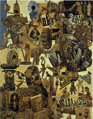 Hannah Höch,  Cut with a Kitchen Knife  (1919) -  Click on the picture and you will be taken to a site where the person who has uploaded the piece has annotated sections of it; you'll see faint squares on the picture. Move your mouse to those areas to see what information the uploader has provided.
