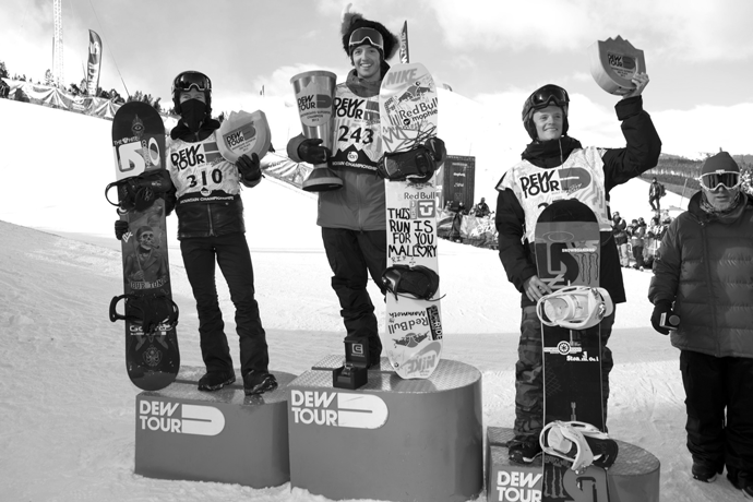 Greg Bretz Taylor Gold Shaun White Podium Dew Tour