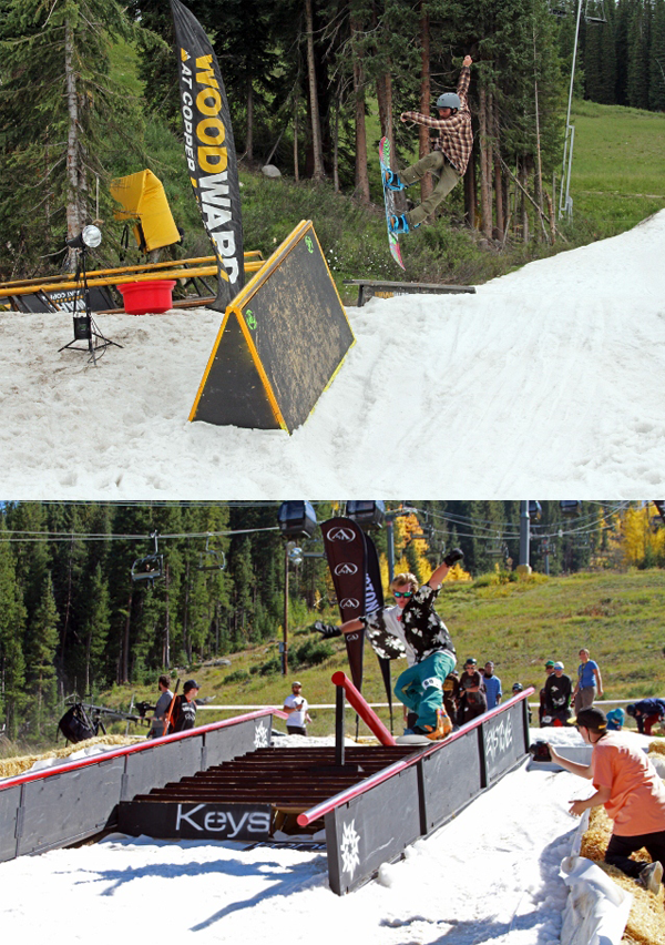Riders: Greyson Clifford at Copper Mountain (top) & Michael Wick at Keystone (bottom) Photos by Mike Goodwin