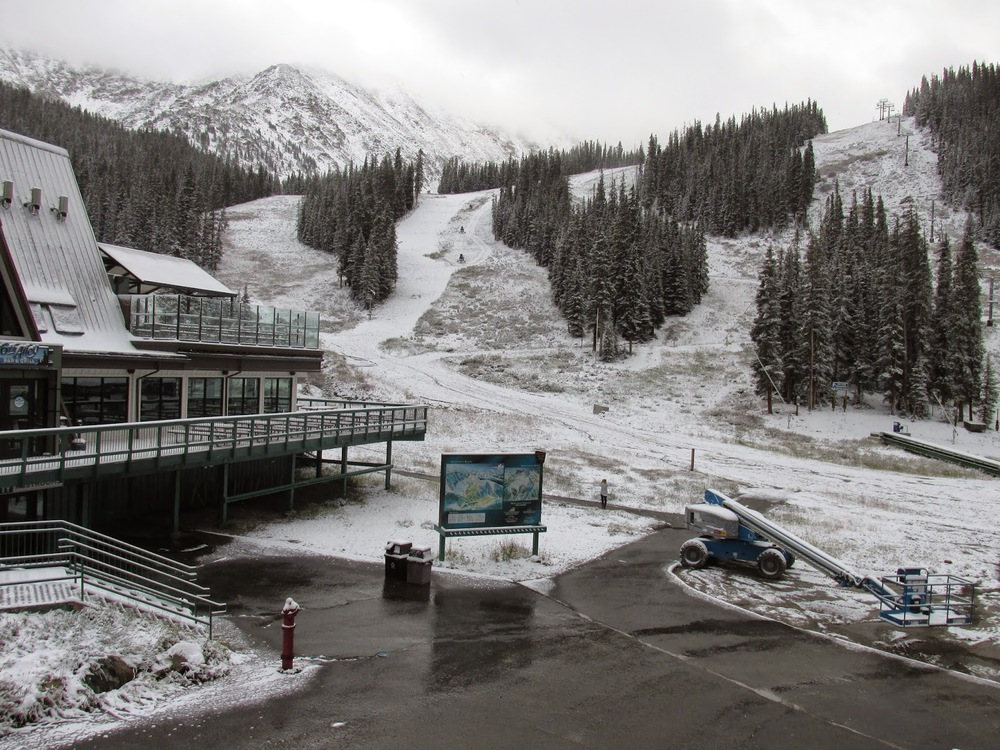 """Overnight we received a couple of inches of snow at the bottom and more up high."" - Al's Blog"