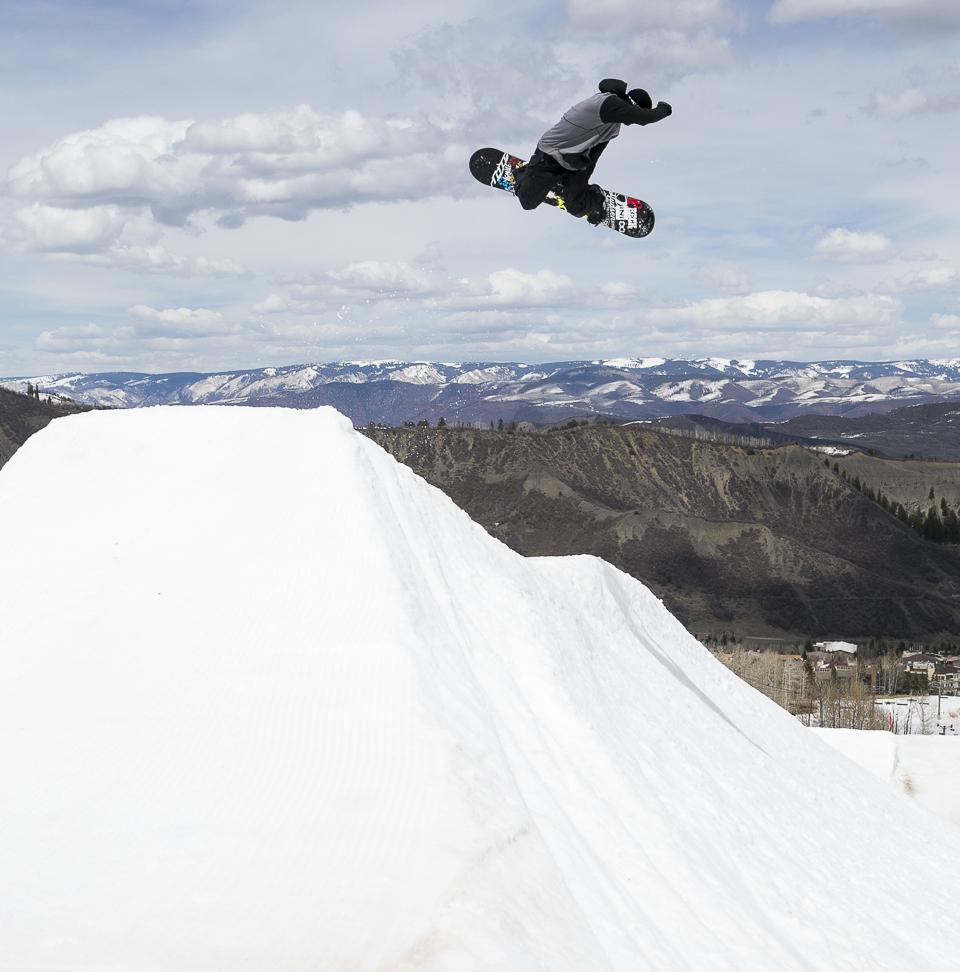 Zack enjoying the views at Aspen Snowmass. P: Aaron Dodds