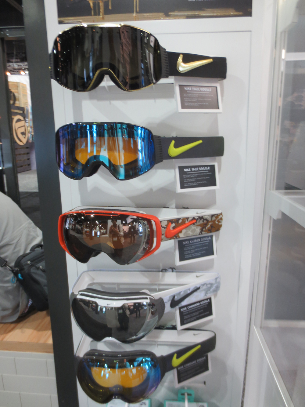 No more Nike Boots, but seems goggles remain in their future.