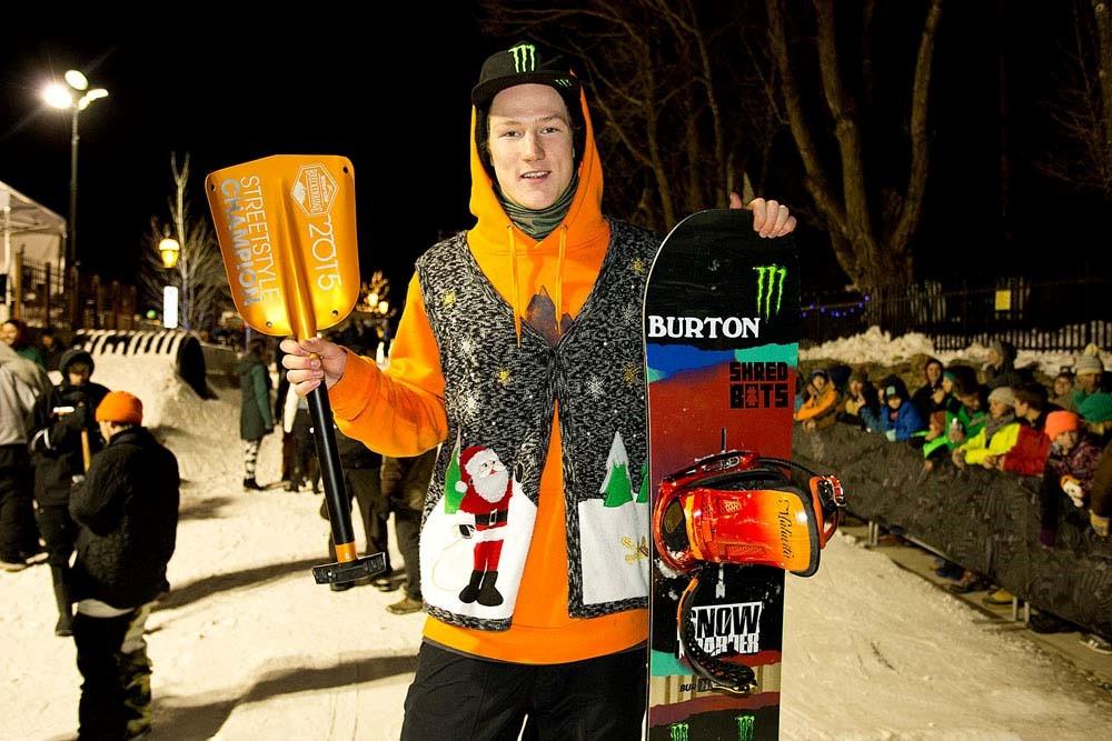 Darcy Sharpe Wins Dew Tour Breckenridge Snowboard Streetstyle