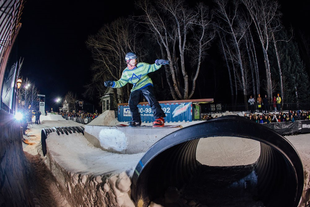 Seth Hill Takes Third Place in Snowboard Streetstyle Dew Tour Breckenridge