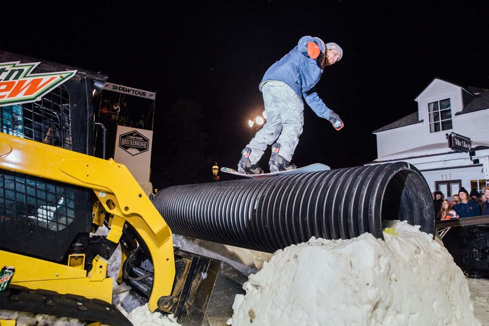 Nial Romanek Wins Best Trick Snowboard Streetstyle Dew Tour Breckenridge