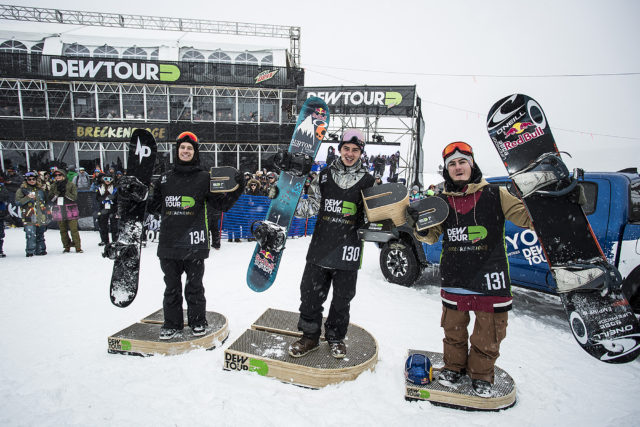 L to R: Max Parrot, Mark McMorris, Seb Toots  P: The Enthusiast Network