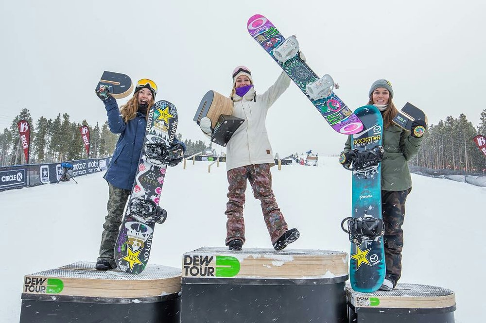 L to R: Hailey Langland, Jamie Anderson, Spencer O'Brien  P: The Enthusiast Network