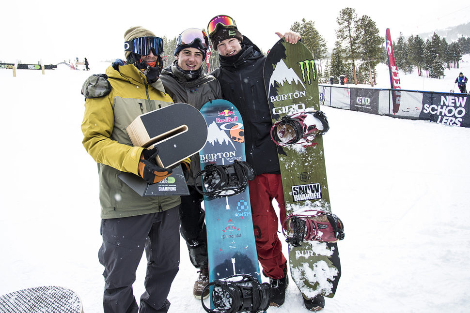 L to R: Terje Haakonsen, Mark McMorris, Darcy Sharpe  P: The Enthusiast Network