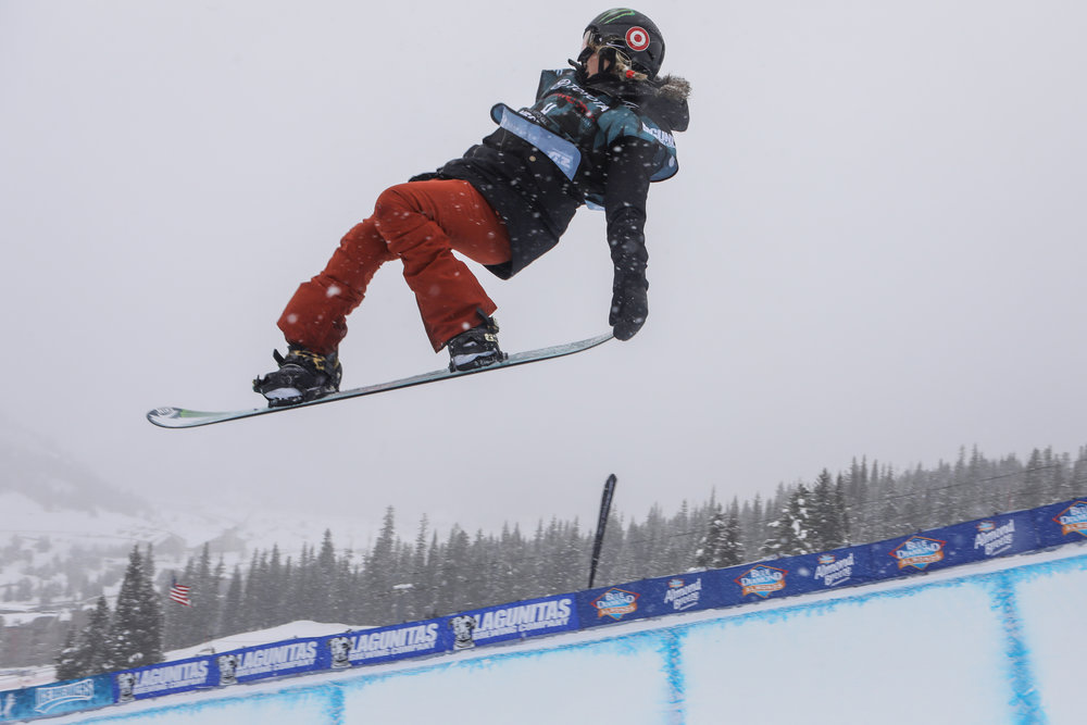 R: Chloe Kim | P: Tripp Fay, Copper Mountain Resort