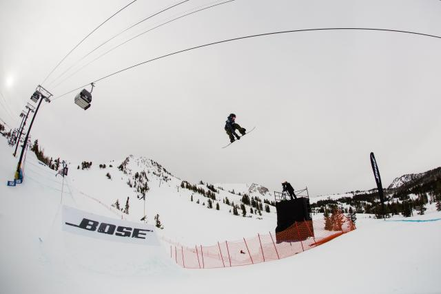 Red Gerard wins Slopestyle at the U.S. Grand Prix in Mammoth | P: U.S. Snowboarding