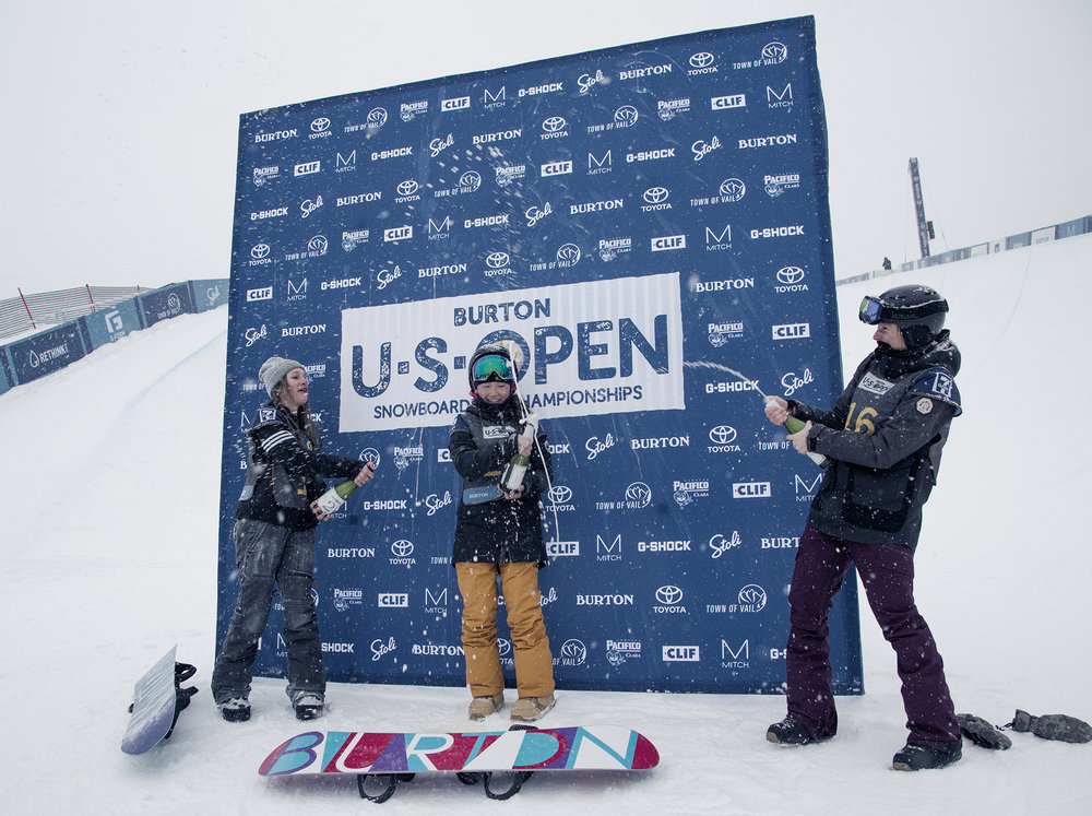 Girls U.S. Open Junior Jam Halfpipe Podium  |  P: Jesse Dawson