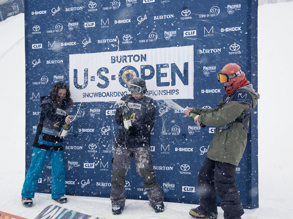 Boys U.S. Open Junior Jam Halfpipe Podium  |  P: Jesse Dawson