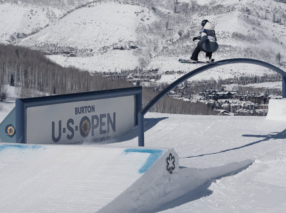 Jamie Anderson's smooth style puts her top on the leader board in the Semi-Finals | P: Blotto