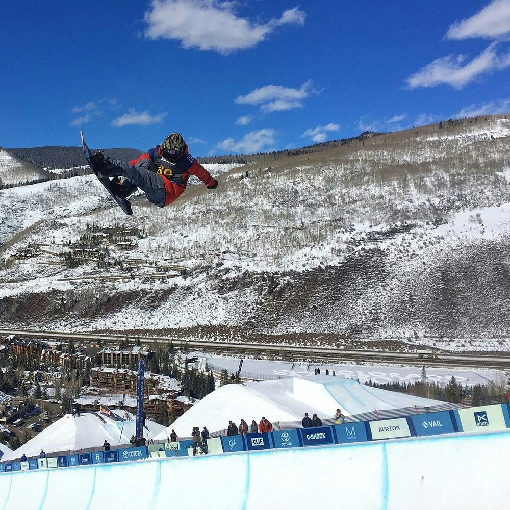 Danny Davis, fan and rider favorite, had a great outing even though he's been riding pow all year and not training or riding pipe  |  P: Sparky G