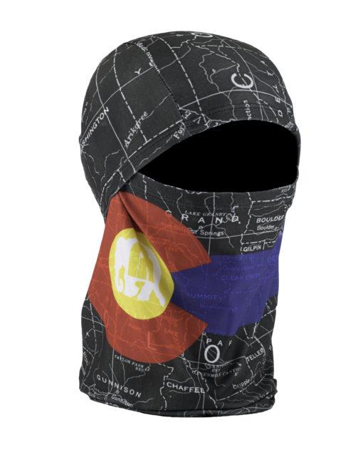 Convertible Ballerclava: Colorado Map Black