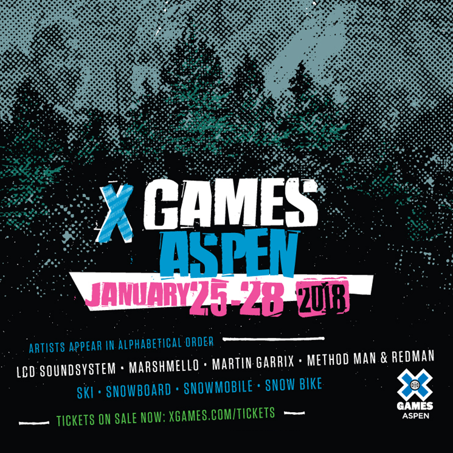X GAMES / ASPEN   January 25-28, 2017   Buttermilk Mountain Aspen