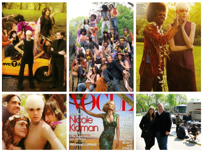 Vogue Magazine shoot in central park, cast Photographed in costume by Mario Testino