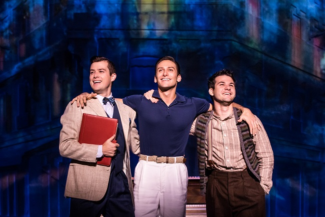 TOUR CAST Nick Spangler as Henri, Garen Scribner as Jerry and Etai Benson as Adam