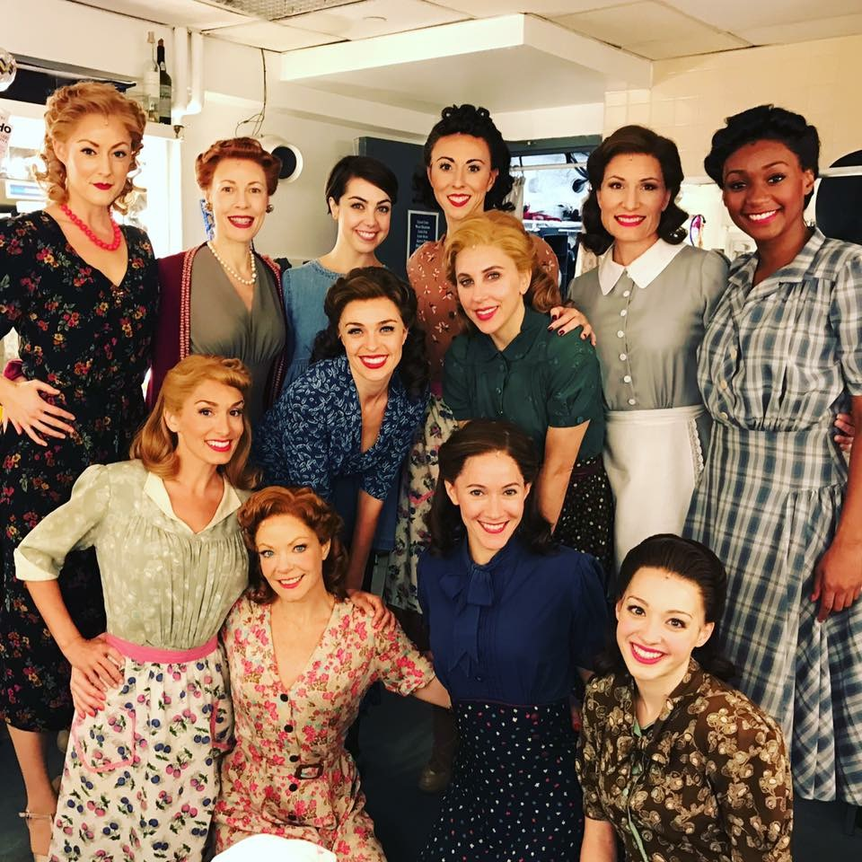 Broadway women's Ensemble Backstage at the Palace Theatre