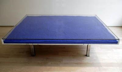 Yves Klein's Pigment Table