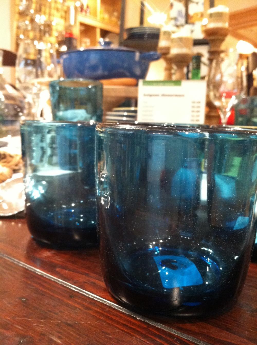 Thick Blue Garden Glass