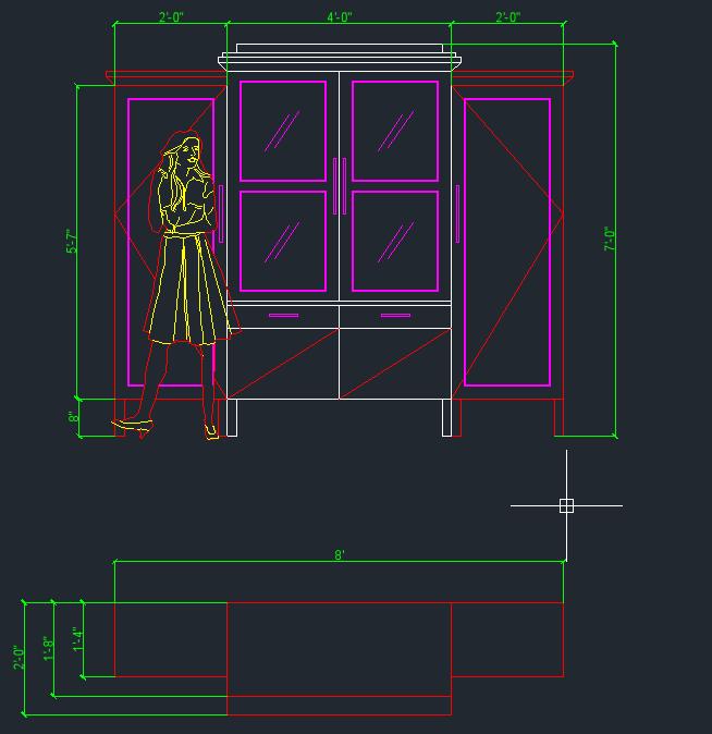 Cabinet, Concept Sketch