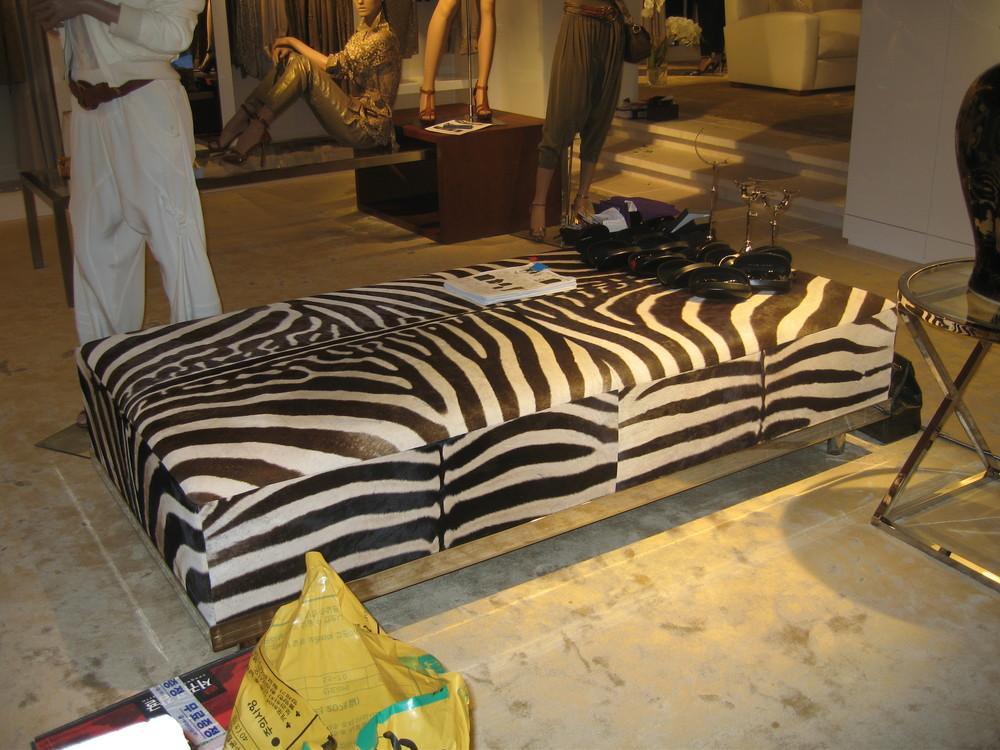 Zebra Ottoman, RL Seoul Korea