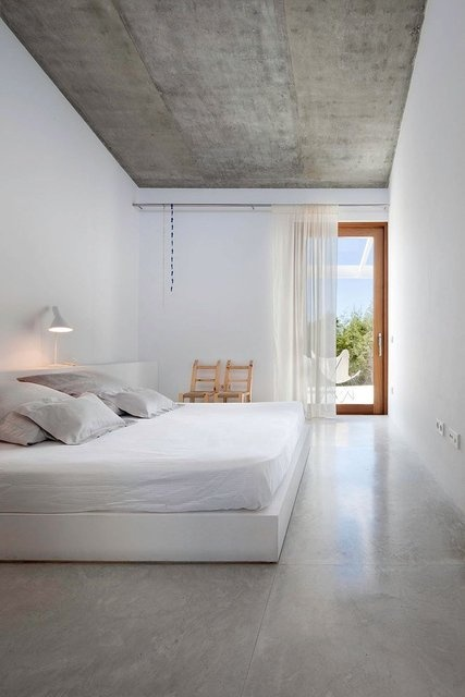This Interior Is As Minimal As Minimal Gets. I Love How The Architect  Mirrored The Concrete Finish From The Ceiling Slab. The Bed Is Too Simple  For My ...