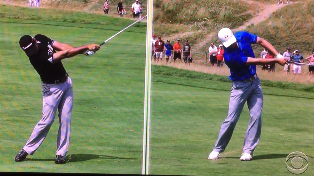Jason Day, left, and Jordan Spieth