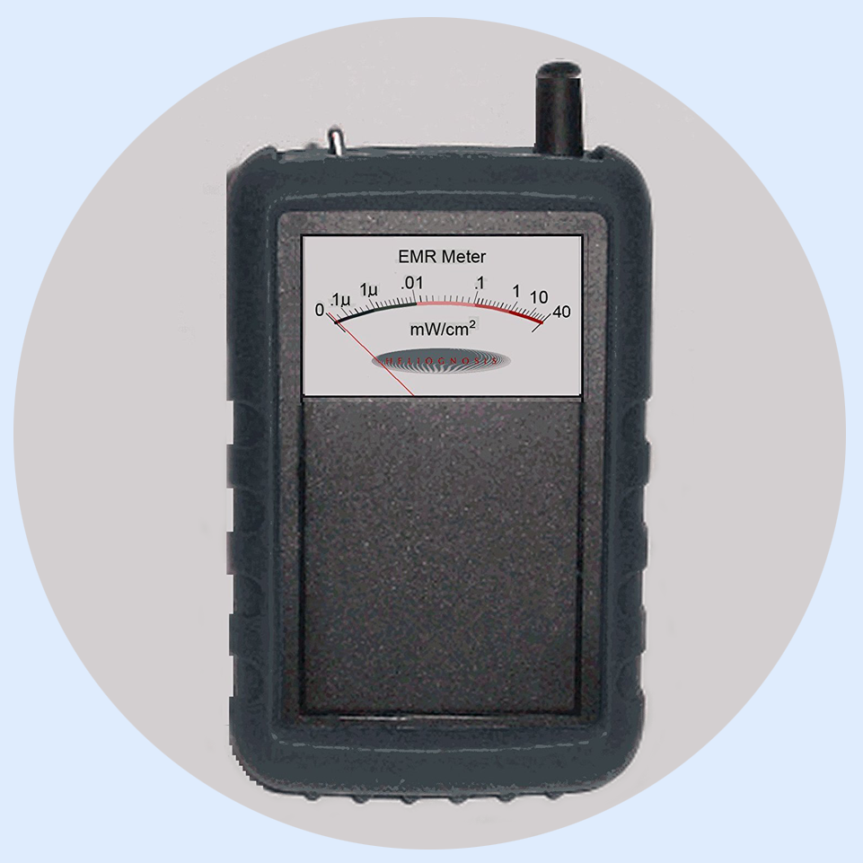EM2 Multi-Purpose Broadband EMF RF Electrosmog Meter, ELF out to Analog 18GHz - This delightful meter measures electric field from 50 Hz to 18 GHz!