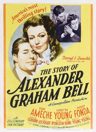 Movie poster - The Story of Alexander Graham Bell, Twentieth Century-Fox, 1939