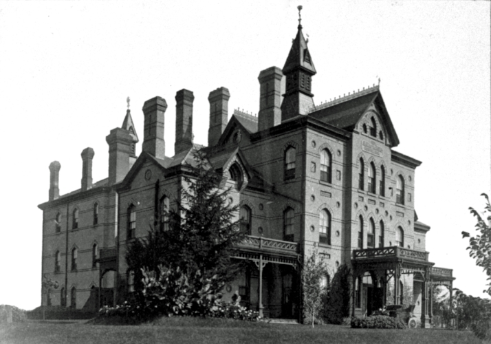 The Stratford Hospital main building before it was demolished and replaced in the 1950s.
