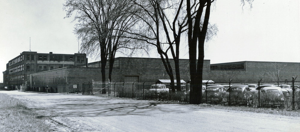 Canadian Westinghouse  moved their television and radio division to a plant on Greenwich Street in 1954. Westinghouse closed this plant in 1971. The three and a half story building to the left is now Brant Instore and the foreground building is Ingenia Polymers.  Image courtesy of the Brant Historical Society