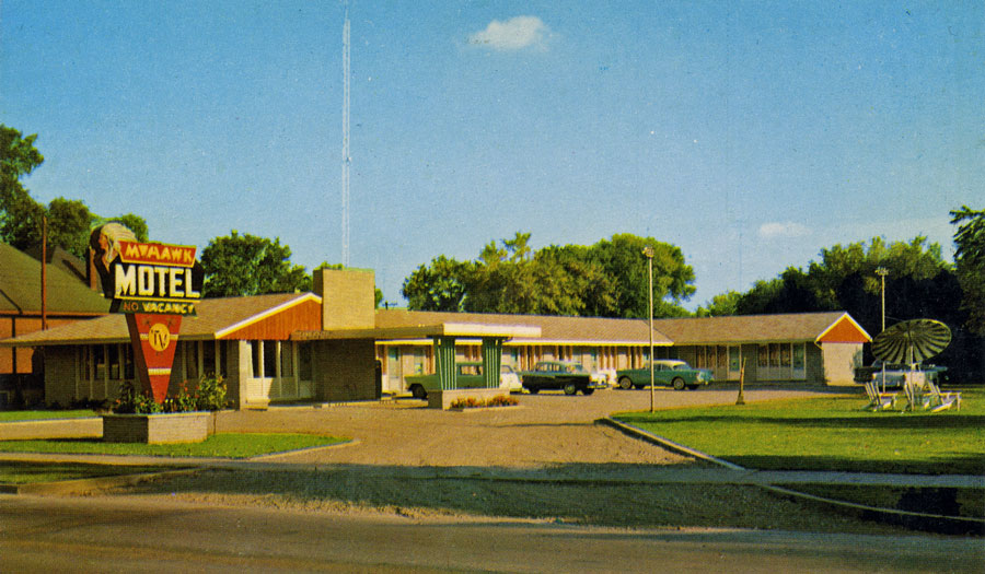 The Mohawk Motel opened in 1955 on Colborne St E. It is still operating today under its original name.  Image courtesy of the Brant Historical Society