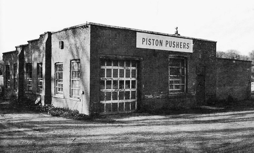 Piston Pushers' long time club house on Hwy 2 & 53 located next to Fairchild Creek. The club occupied the building for 25 years. The building still stands.  Image courtesy of the Brant Historical Society
