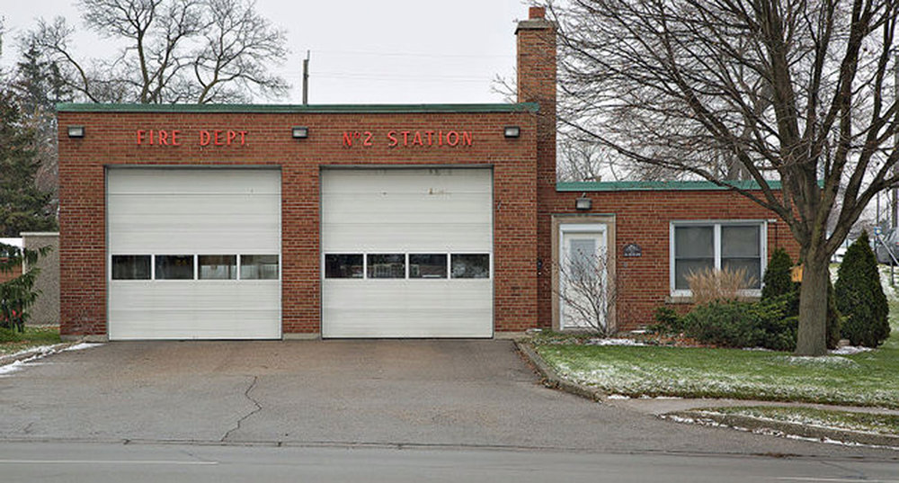 Fire Station No. 2, opened in 1960  Image courtesy of the Brant Historical Society
