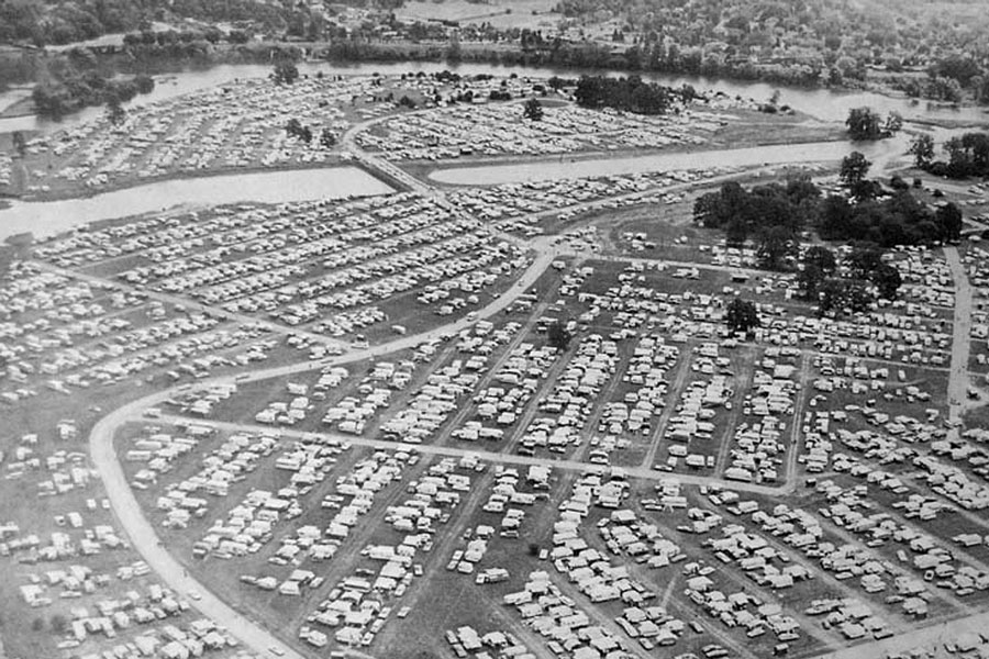 National Campers and Hikers Association Campvention, Brant Park, 11-July-1971.  Image courtesy of the Brant Historical Society