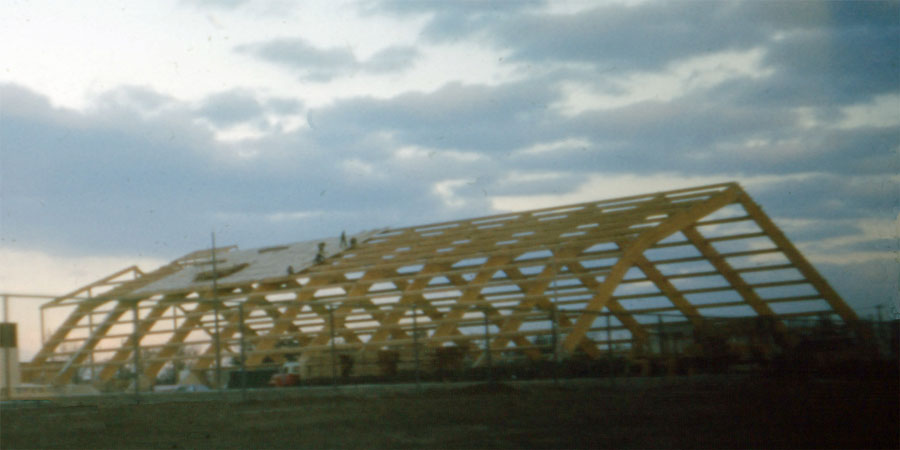 Aquatic Centre. Construction of the Aquatic Centre, 6-November-1973.